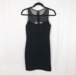 Forever 21 black MeshBody Con  Dress
